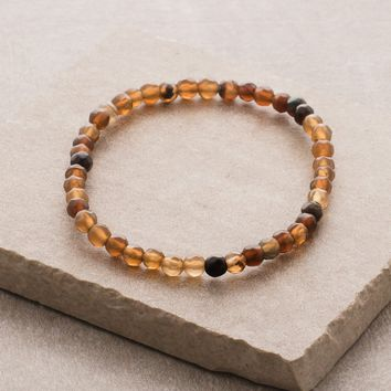 Brown Agate Mini Gemstone Energy Bracelet