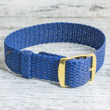 Navy Blue perlon strap ( 18mm ) waterproof nylon strap, royal blue perlon, watch strap, watch band, perlon band