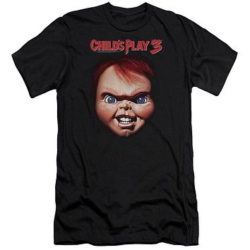 Childs Play Premium Canvas T-Shirt Chucky Close Up Black Tee