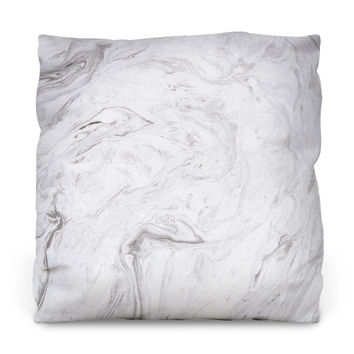 Pristine Marble Outdoor Throw Pillow