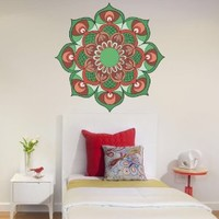 Full Color Wall Decal Mandala Model Map Ornament Star Buddha Yoga Flower Mcol32