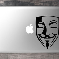 Guy Fawkes / Anonymous MacBook Decal