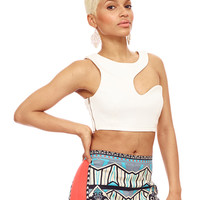 GET TRIPPY CROP TOP - IVORY