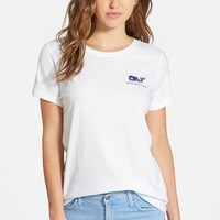 Women's Vineyard Vines 'Nautical Whale Dot' Crewneck Tee,