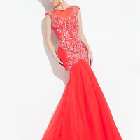 High Neck With Sheer Back Formal Prom Dress By Rachel Allan 6921