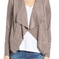 KUT from the Kloth Tayanita Faux Suede Jacket (Regular & Petite) | Nordstrom
