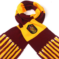 200*20 winter warm harry potter scarf gryffindor Scarves Knitting Ravenclaw College kids Magic School Slytherin children SQ124