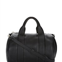 Black Rocco In Soft Black With Pale Gold - Alexander Wang