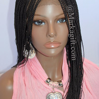 """Fully Hand Braided Lace Front Wig Twist - Color Hope#2 In 20"""""""