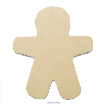 10 Large Unfinished Wood Gingerbread Men, Ready to Embellish for Holiday Crafts
