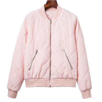 Padded Bomber Jacket in Multicolor