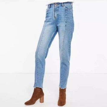 New Slim Pencil Pants Vintage High Waist Jeans new womens pants full length pants cowboy pants