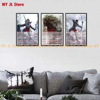 Rise of The Tomb Raider Game poster 2019 calendar Home Furnishing decorative white coated paper Poster Wall Sticker Home Decora