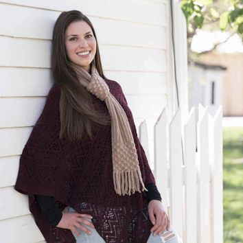 Britt's Knits Pull-through Scarf with Flirty Fringe Endings
