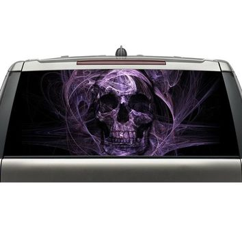 shenzhen aliexpress best selling products custom car rear windshield decals skull head graphic vinyl stickers with free shipping - Purple, 147X46CM