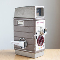 Movie Camera, Bell Howell Two Fifty Two, Case and Lenses, Retro Home Decor, On Sale