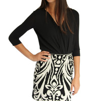 Knit Jacquard Skirt