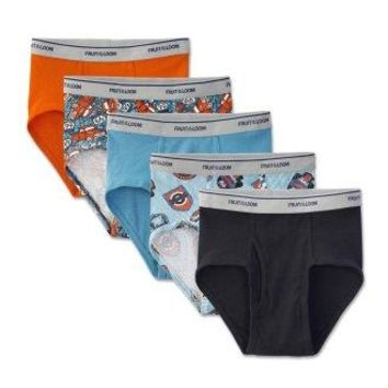 Boys' Assorted Color Briefs, 5 Pack