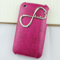 "One Direction ""Directioner"" Infinity Plum Purple Skins Leather Hard Case Cover for Apple iPhone 3 Case, iPhone 3gs Case"