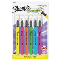 Sharpie® Clear View® Highlighter, 6ct - Multicolor