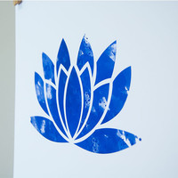 Yoga Poster Lotus Yoga Watercolor Yoga Art wall decor YOGA PRINT Blue Lotus Flower Buddha Art Zen Peace Art Yoga Studio Art Yoga Boho Print