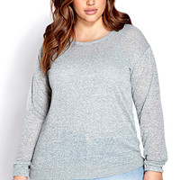FOREVER 21 PLUS Easy Marled Knit Top