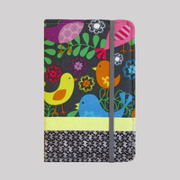 Kindle Cover Hardcover Kindle Case Nook Cover Nexus 7 Cover Nexus 7 Case Custom eReader Cover Bright Birds With Border