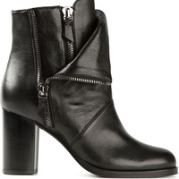 Casadei layered zipped boots