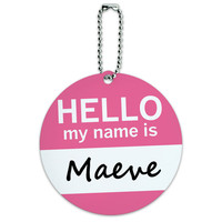 Maeve Hello My Name Is Round ID Card Luggage Tag