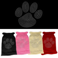 Rhinestone Knit Pet Sweater: Clear Rhinestone Paw