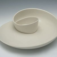 Supermarket: Whirl Serving Plate No. 12 - Porcelain Serving Plate from Kim Westad