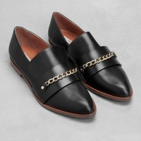 Pointed leather loafers | Pointed leather loafers | & Other Stories