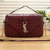 YSL Yves Saint Laurent trend female crocodile chain bag shoulder bag diagonal female bag