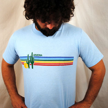 Vintage 1980s Arizona Rainbow Tee Shirt