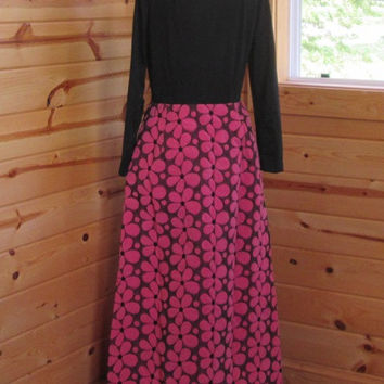 Vintage Miss Serbin Maxi Dress/1960s