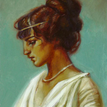 Roman Girl Original Oil Painting by Larriva on Etsy