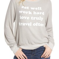 Dream Scene Eat Well Sweatshirt | Nordstrom
