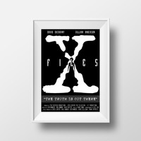 X Files Poster, David Duchovny, Gillian Anderson, Movie Poster, TV Series