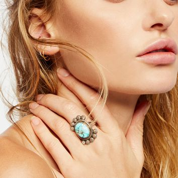 Free People China Mountain Turquoise Ring