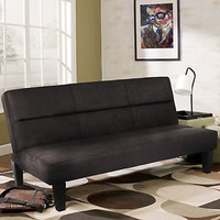 "Microfiber Futon Folding Couch Sofa Bed w/ 6"" Mattress Sleep Recliner Lounger BK"