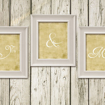 You and Me Printable Instant Download Art Decor Wall Art Home Decor MO013burwh