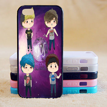 5SOS,Custom Case, iPhone 4/4s/5/5s/5C, Samsung Galaxy S2/S3/S4/S5/Note 2/3, Htc One S/M7/M8, Moto G/X