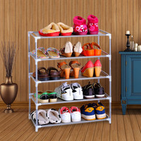 House Scenery Living Room Furniture Portable Shoe Racks Folding Multilayer Non-woven Fabric Combination Dustproof Shoes Shelf