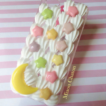 READY TO SHIP- Pastel Stars and Moon Iphone 5/5s Phone Case