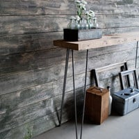 Reclaimed Wood Console Table, Free & Fast Shipping(3.5ft  x 11.5w x30 h )