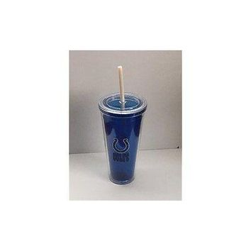 NFL Indianapolis Colts 22 oz Color Double Wall Acrylic Travel Tumbler Cup
