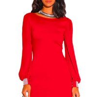 Red Cocktail Mini Dress