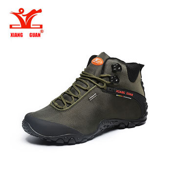 XIANG GUAN 01 Lovers Mountain black Climbing Camping Shoes Waterproof Hiking Boot Outdoor Sneakers High Cut Trekking Shoes 82283