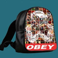 Marilyn monroe obey gangsta for Backpack / Custom Bag / School Bag / Children Bag / Custom School Bag *