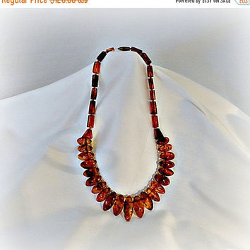 Natural Baltic Amber Necklace: Collar Necklace, Amber Necklace,  Vintage